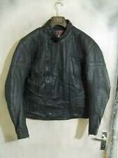 Vintage 80's English TT LEATHERS Distressed Leather Motorcycle Jacket Size 44