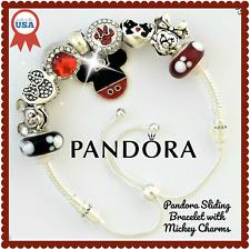 Pandora Charm Bracelet Disney Mickey Red #597125CZ Sliding Charm Bracelet NEW