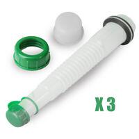 3 Sets Of Gas Can Fuel Spout Cap Kit Replacement Industrial Spout Parts Practial