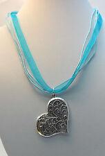 Türkis Modeschmuck-Halsketten & -Anhänger mit Herz-Schliffform für Damen