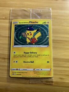 Special Delivery Pikachu - Pokémon Center Promo Card - Sealed - SWSH074 INT SHIP