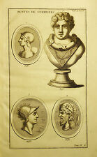 1724,Bernard MONTFAUCON, BUSTI DI GUERRIERI (FAMOSI).Cm 33x19.Inc/Rame.Etna