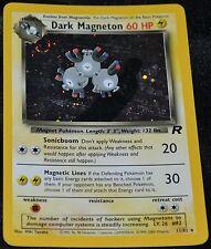 Holo Foil Dark Magneton # 11/82 Team Rocket Set Pokemon Trading Cards Rares HP