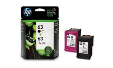 #63 Combo Ink Cartridges For HP 63 Black & Color NEW GENUINE