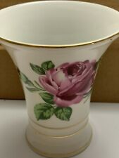 New ListingVintage Porcelain Glass, Roses And Four Gold Rings Around. Germany