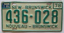 New Brunswick 1985 License Plate NICE QUALITY # 436-028