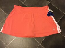 NWT CHAMPION Active Skort Skirt with Shorts Size L Coral Orange Nice!!