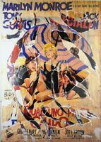 Multiplo decollage di Mimmo Rotella - A qualcuno piace caldo - Pop Art cm 100x70