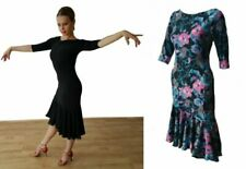 STRETCHY BALLROOM / LATIN DANCE PRACTICE DRESS WITH SLEEVES 6 8 10 12 14 16 18