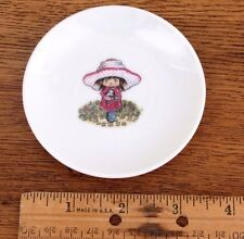 Tea Bag Holder Plate  Girl w/her Doll