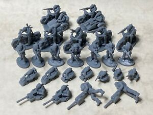 Post-apocalyptic cultists in 20mm scale for Gaslands, Dark Future, Car Wars