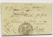 """""""COMMISSARIO DI GUERRA P.DESTRANI"""" 1808 RARO timbro napoleonico"""