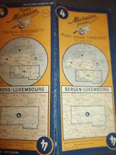 Carte michelin 4 Bergen  luxembourg 1951