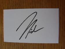 50's-2000's Autographed White Card: Salgado, Michael - Blackburn Rovers, Real Ma