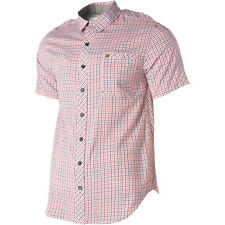 Arbor Skate Bamboo Cotton Short Sleeve Collar Button Up Down Shirt Mens sz Small