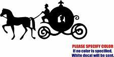 "Cinderella Carriage Decal Sticker JDM Funny Vinyl Car Window Bumper Truck 7"""