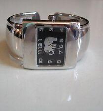 Elephant Good Luck Charm bracelet Silver finish color dial fashion women's watch
