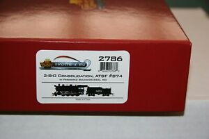 BLI  #2786 AT&SF 2-8-0 #874 W/PGON 2 DCC/SOUND HO SCALE FROM ESTATE JL