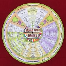 World Wine Wheel Information Guide With Food Paring Suggestions New