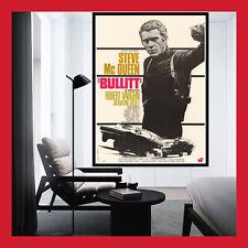 REPRO TOILE AFFICHE CINEMA MOVIE FILM POSTER PHOTO STEVE MCQUEEN BULLITT 1968