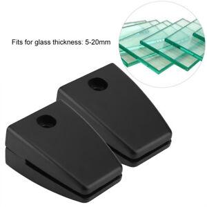 Aluminum Alloy Anti-slip Glass Clip Clamp Brackets Holder For 5-20mm Window Boa.