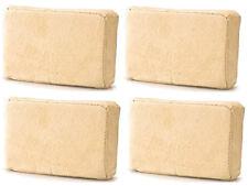 4 (Four) x Chamois Leather Sponge Pad For Demisting Car Windows