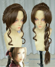 Final Fantasy-Aerith Gainsborough Brown Long Braids Cosplay Wig