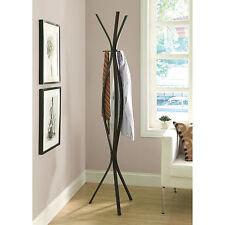 Brown Metal Tripod Coat Hat Rack Freestanding Home Living Entryway Furniture