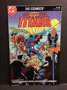 New Teen Titans Drug Awareness Anti-Drug Promo VF/NM 1983 High Grade DC Comic