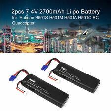 2Pcs 7.4V 2700mAh Lipo Batería del transmisor Para Hubsan X4 H501S H502S H109S H901A