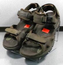 ALLIGATOR DARK BROWN MARPFSA45 Men's Shoes Size 10 M Leather Sandals Mephisto
