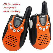 New 2Pcs Retevis RT-602 Walkie Talkie for Kids gift UHF PMR446+LCD Flashlight AU