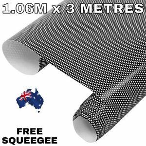 1.06M X 3M Black One Way Vision Wrap Film Tint Car Bus Vehicle Window Windscreen