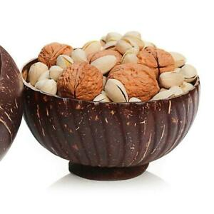 Natural Coconut Shell Bowl Spoon Scoop Handmade Candy Fruit Salad Food Container
