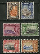 Hong Kong   1941   Scott # 168-173   Mint Lightly Hinged Set