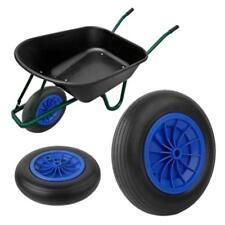 1St. Schubkarrenrad Vollgummireifen PU-Reifen Stahlfelge Räder 3.50-8 Rad Blau
