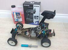 Vintage Traxxas Nitro Buggy Petrol Remote Control RC Car 1:10 Kit With Remote