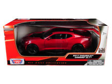 2017 Chevrolet Camaro ZL1 Die-cast Car 1/24 Motormax 7.75 inches Red Wine