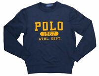 Polo Ralph Lauren Mens Sweater Navy Blue Size Large L Crewneck Logo $98 #027