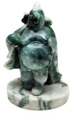 "BURMA GREEN ""A"" JADEITE Chinese Holy Pig God Zhu Bajie Carving Statue: Hand Made"
