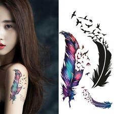 3D Feather Temporary Semi-permanent Tattoo Sticker Decal Water Transfer Stickers