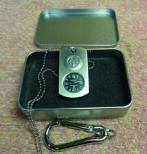 Dog Tag Pocket Watch Smith & Wesson Commando stainless key chain necklace