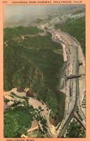 VINTAGE POSTCARD CAHUENGA PASS PARKWAY AT HOLLYWOOD CALIFORNIA c. 1940
