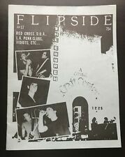 FLIPSIDE FANZINE ISSUE #17 MAGAZINE RED CROSS D.O.A. L.A. PUNK CLUBS VIDIOTS