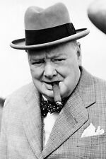 WINSTON CHURCHILL 24X36 POSTER CLASSIC CIGAR ICONIC POSE TOP HAT PRIME MINISTER