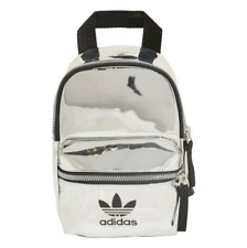 Adidas Mini Back Pack Bag Silver Carry Bag Sport Fitness High School Teen Adult