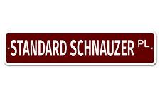 """7519 Ss Standard Schnauzer 4"""" x 18"""" Novelty Street Sign Aluminum"""