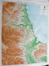 1919 LARGE ANTIQUE MAP-NEWCASTLE DISTRICT-PHYSICAL