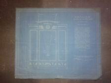 PLAN ARMOIRE EN CYANOTYPE  A. GUERITTE ARCHITECTE ,12 MARS 1910