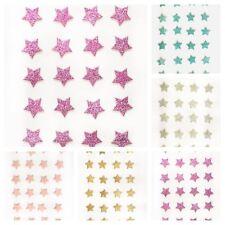 Club Green Glitter Stars Self Adhesive Stick On Stickers Card Making Craft 24 pc